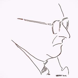 Karikaturni portret Đure Vidmarovića