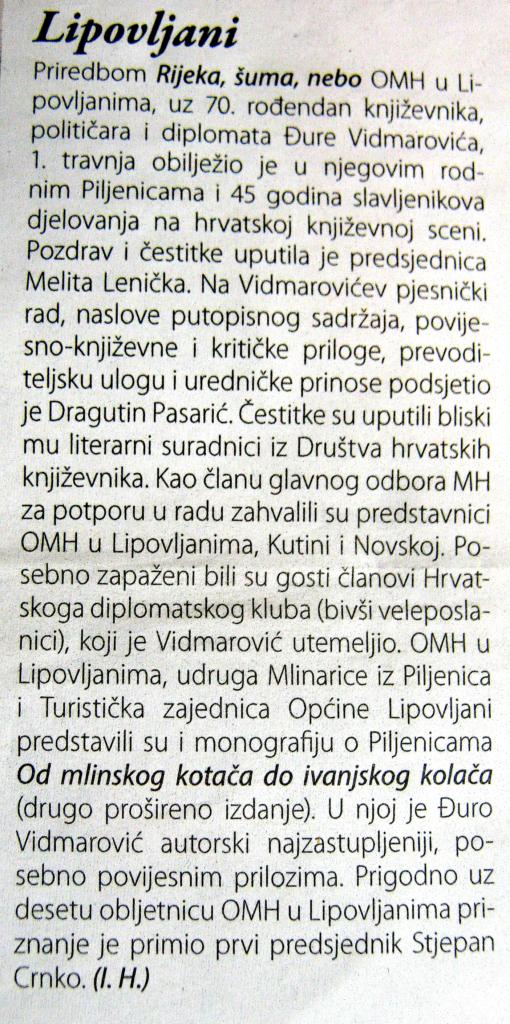 f tekst Vijenac