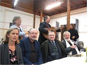 Josip Čenići Mijo Bijuklič uveličali su je svojim nastupom Koljnofske književne susret 2017. U prednjem planu: Dorothjea Zeichman r. Lipković, Jurica Čenar, Đuro Vidmarović i T. M. Bilosnić