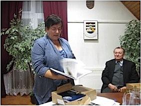 Ana Šoretić drži predavanje o pučkome teatru kod gradišćanskih Hrvata